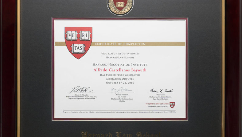 Harvard Law School/MIT/Tufts' Premiere Executive Mediation Program.