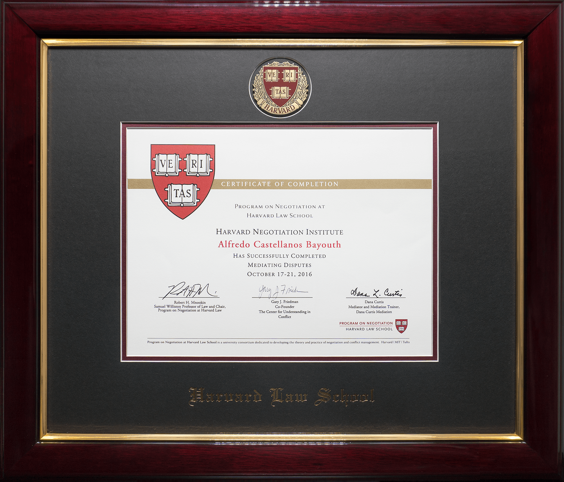 About our practice castellanos gierbolini law firm in puerto rico certificate of completion harvard law schoolmittufts premiere executive mediation program 1betcityfo Choice Image