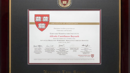Completed MIT-Harvard Advanced Mediation Workshop: Mediating Complex Disputes