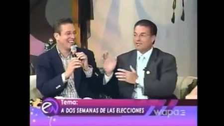 "Mr. Alfredo Castellanos and Alejandro Garcia Padilla, former Governor of Puerto Rico, in ""Entre Nosotras"""