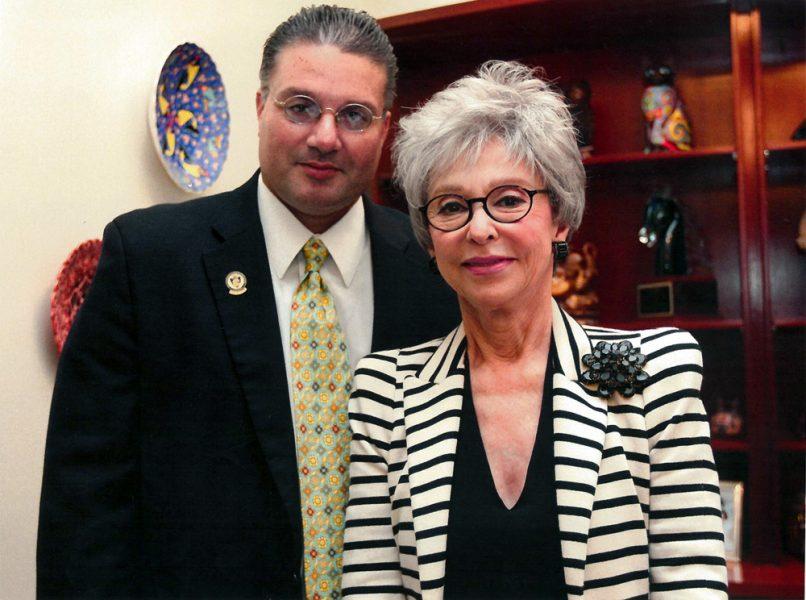 Alfredo Castellanos con Rita Moreno - 12 febrero 2014