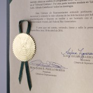2014 Special recognition House of Representatives of Puerto Rico for Life Achievement