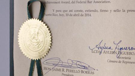 Puerto Rico House of Representatives Recognizes Lifetime Achievements or Mr. Castellanos