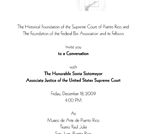 The Foundation of the Federal Bar Association (FBA) / Memorable Activities