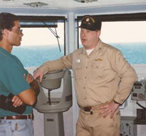 Alfredo Castellanos - special guest at USS JohnC. Stennis (CVN-74)
