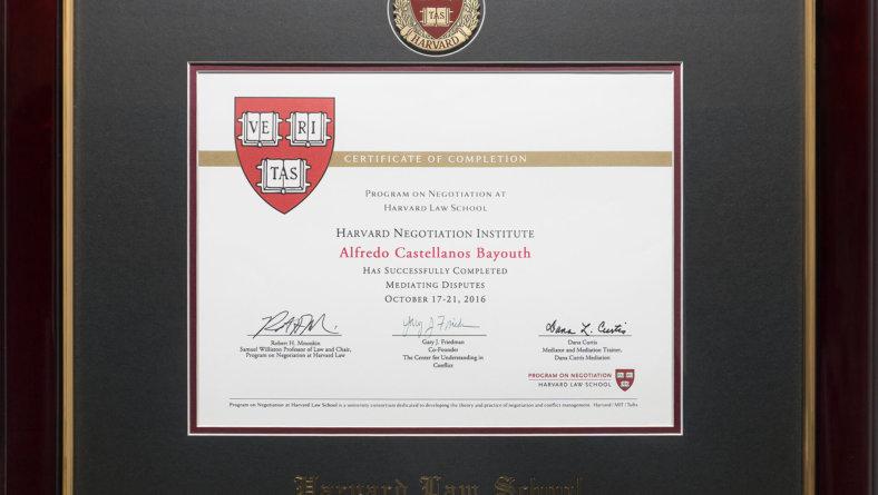 Harvard Law School/MIT/Tufts' Premiere Executive Mediation Program.