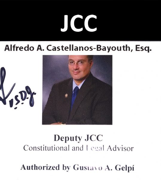The Federal Court expanded the role of Alfredo Castellanos Bayouth Esq. as Deputy JCC-Monitor