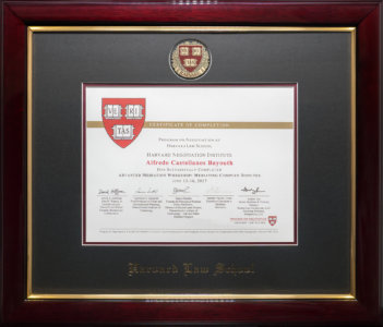 Certificate of Completion - MIT/Harvard Advanced Mediation Workshop: Mediating Complex Disputes