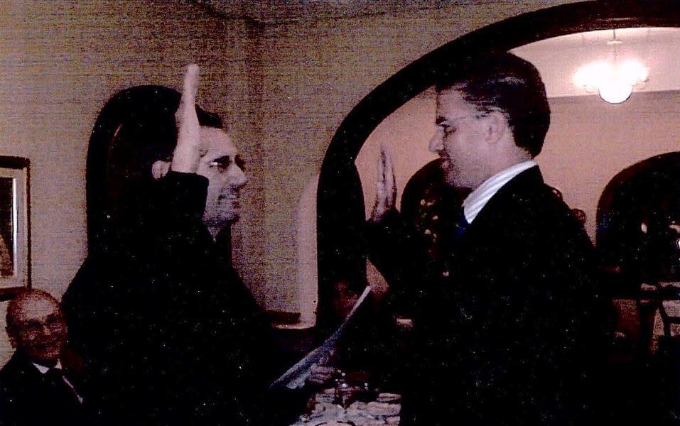 Alfredo Castellanos Esq. with Daniel R. Dominguez; Senior United States District Judge for the District of Puerto Rico.